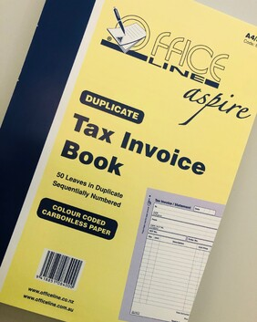 8400 A4 Aspire Tax Invoice Book Dup 50/s